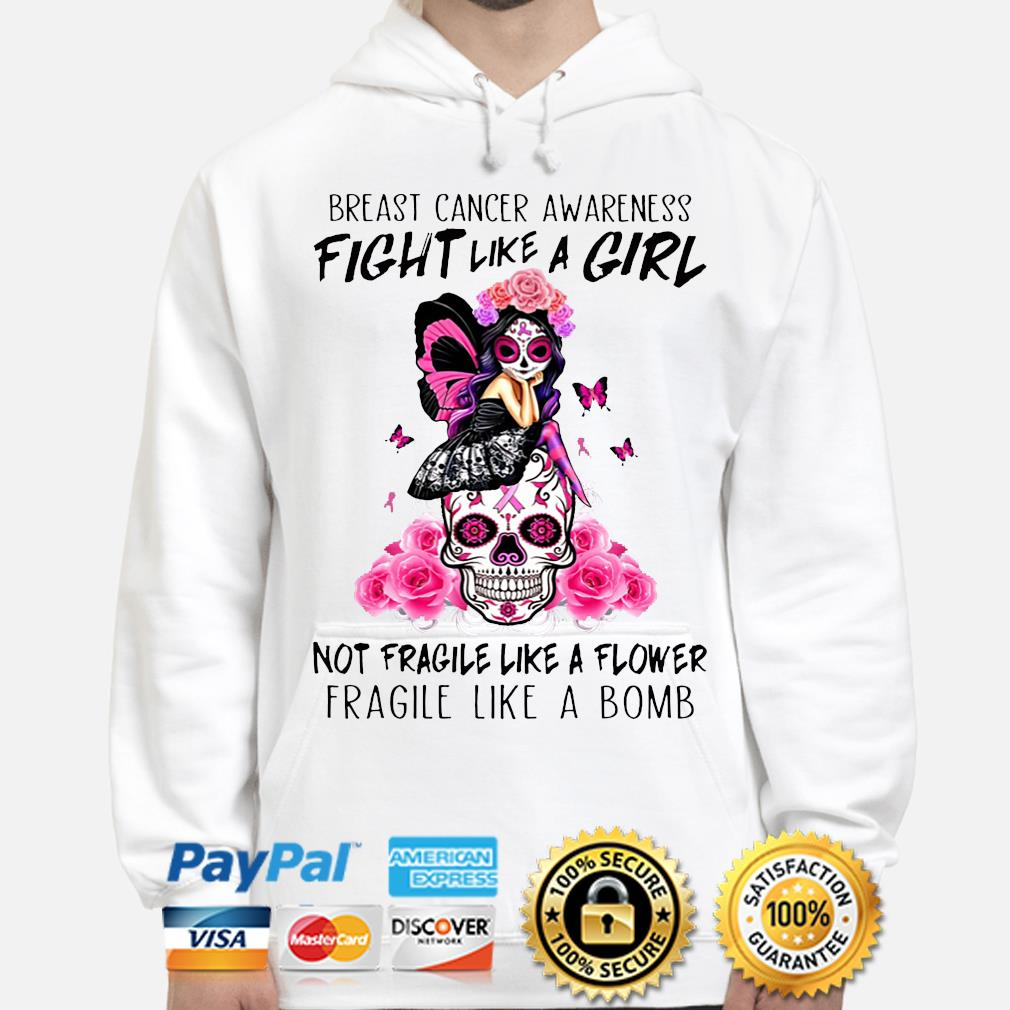 Breast cancer awareness fight like a girl s hoodie