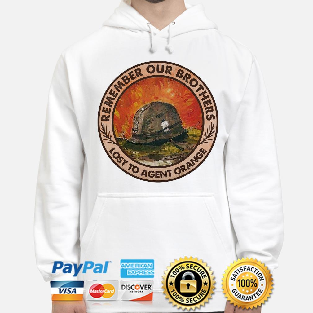 Remember our brothers lost to agent orange s hoodie