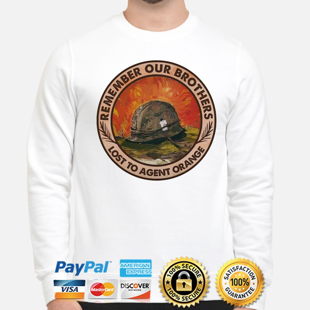 Remember our brothers lost to agent orange s sweater