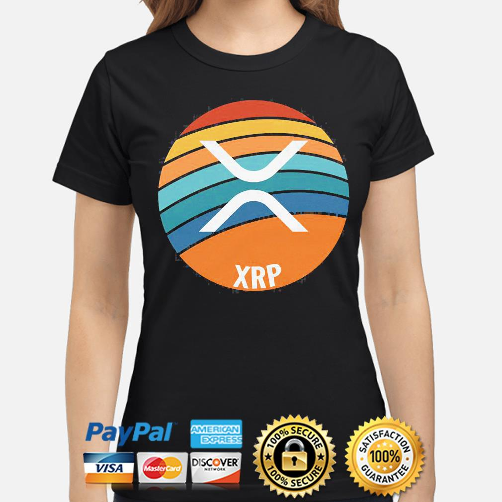 Ripple xrp oval sunset ladies-shirt