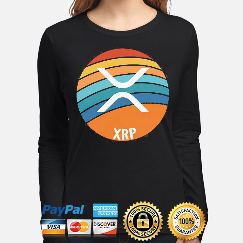 Ripple xrp oval sunset long-sleeve