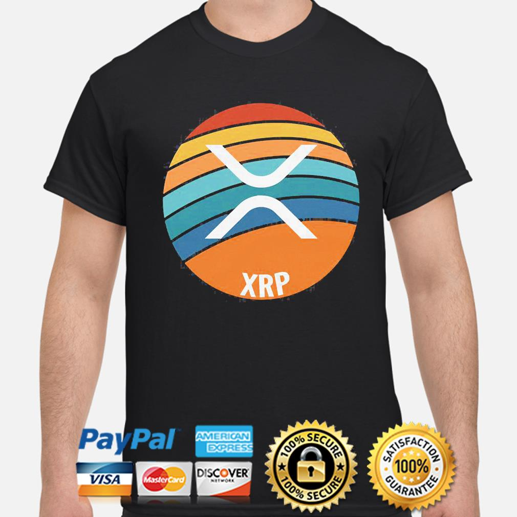 Ripple xrp oval sunset shirt