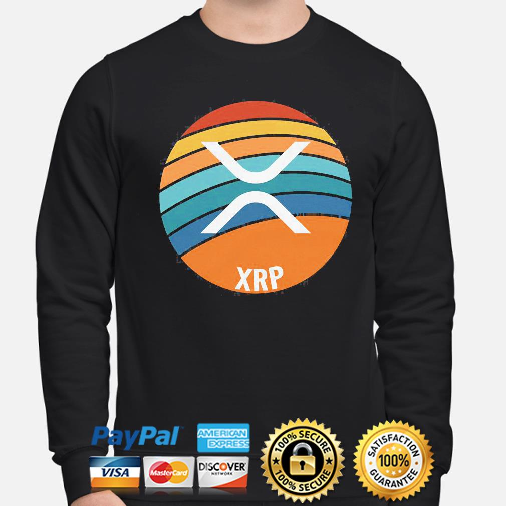 Ripple xrp oval sunset sweater