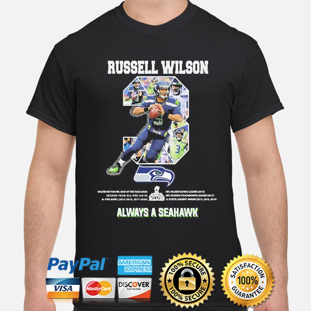 Russell Wilson 3 always a Seattle Seahawks shirt