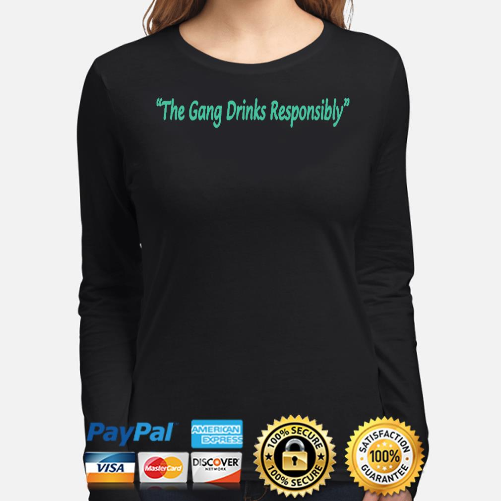 The gang drinks responsibly long-sleeve