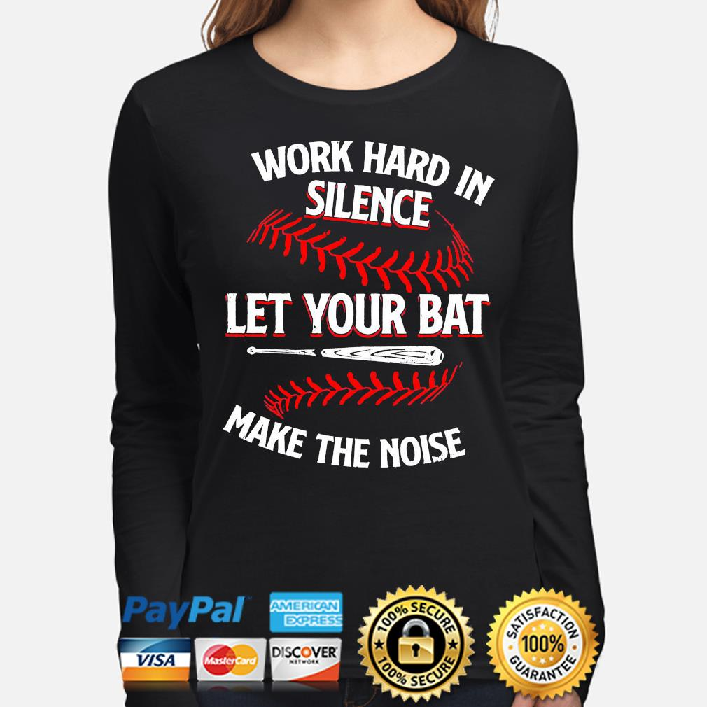 Work hard in silence let your cat make the noise long-sleeve