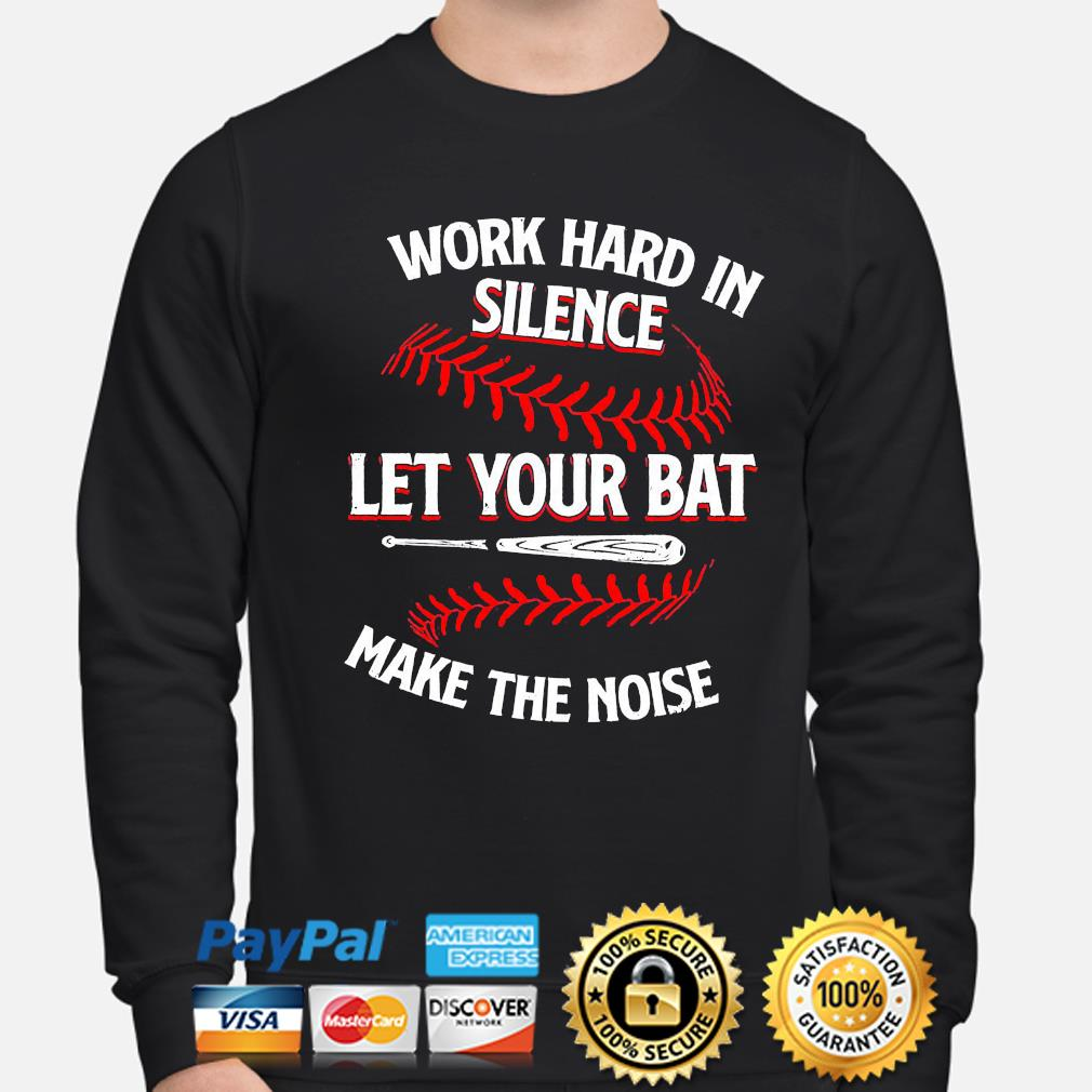 Work hard in silence let your cat make the noise sweater