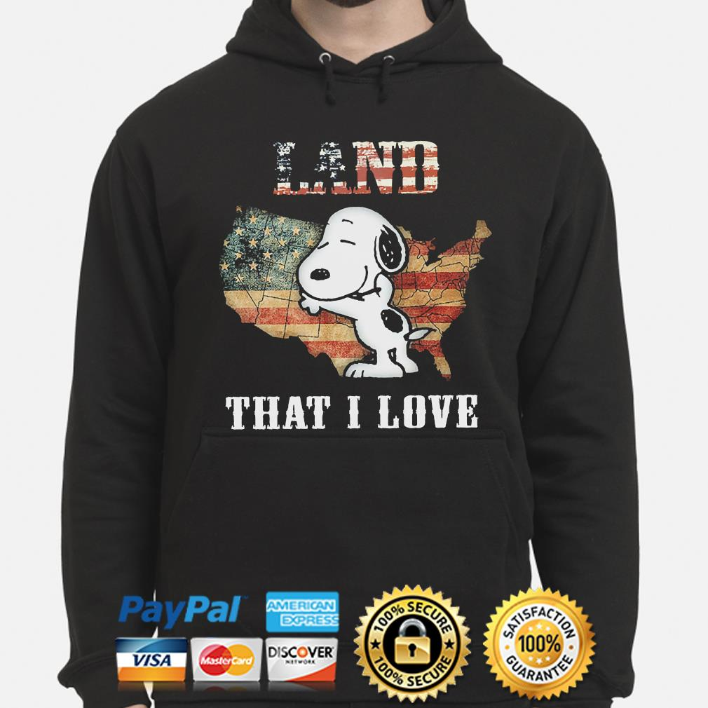 Snoopy Land that I love American flag hoodie