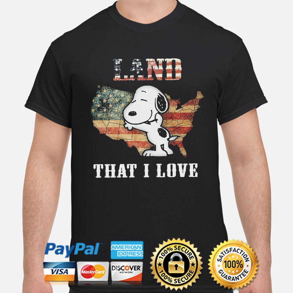 Snoopy Land that I love American flag shirt