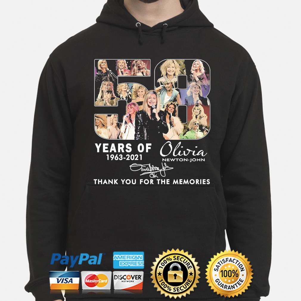 58 years Olivia thank you for the memories signature hoodie