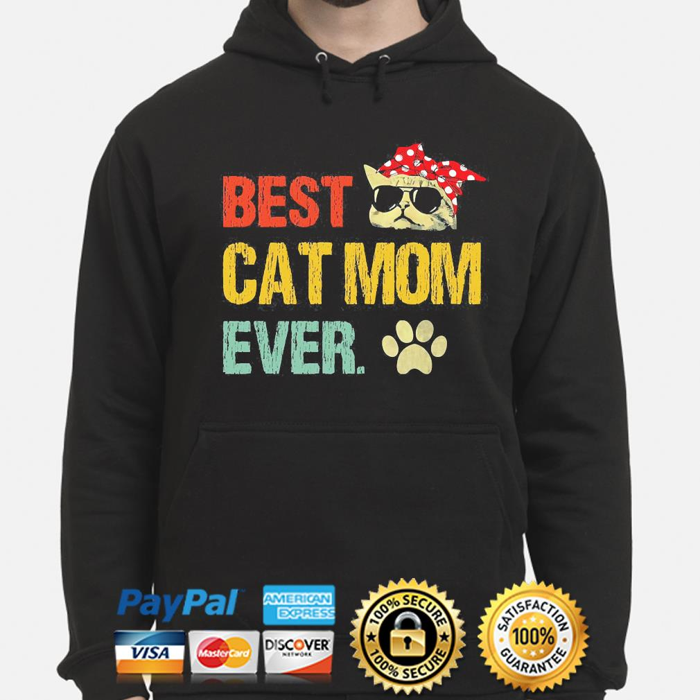 Best cat mom ever vintage hoodie