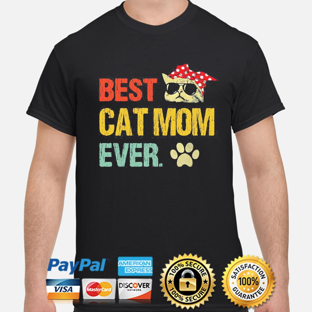 Best cat mom ever vintage shirt