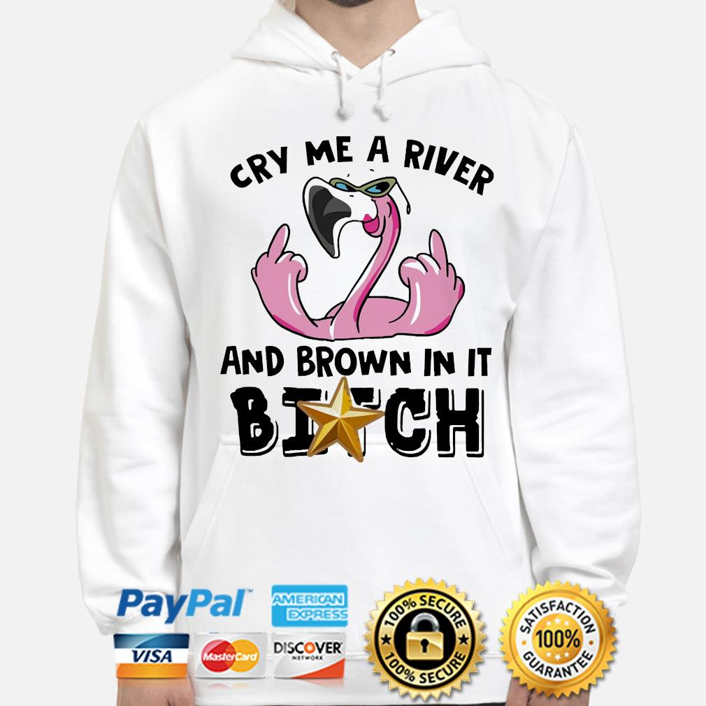 Flamingo cry me a river and brown in it bitch hoodie