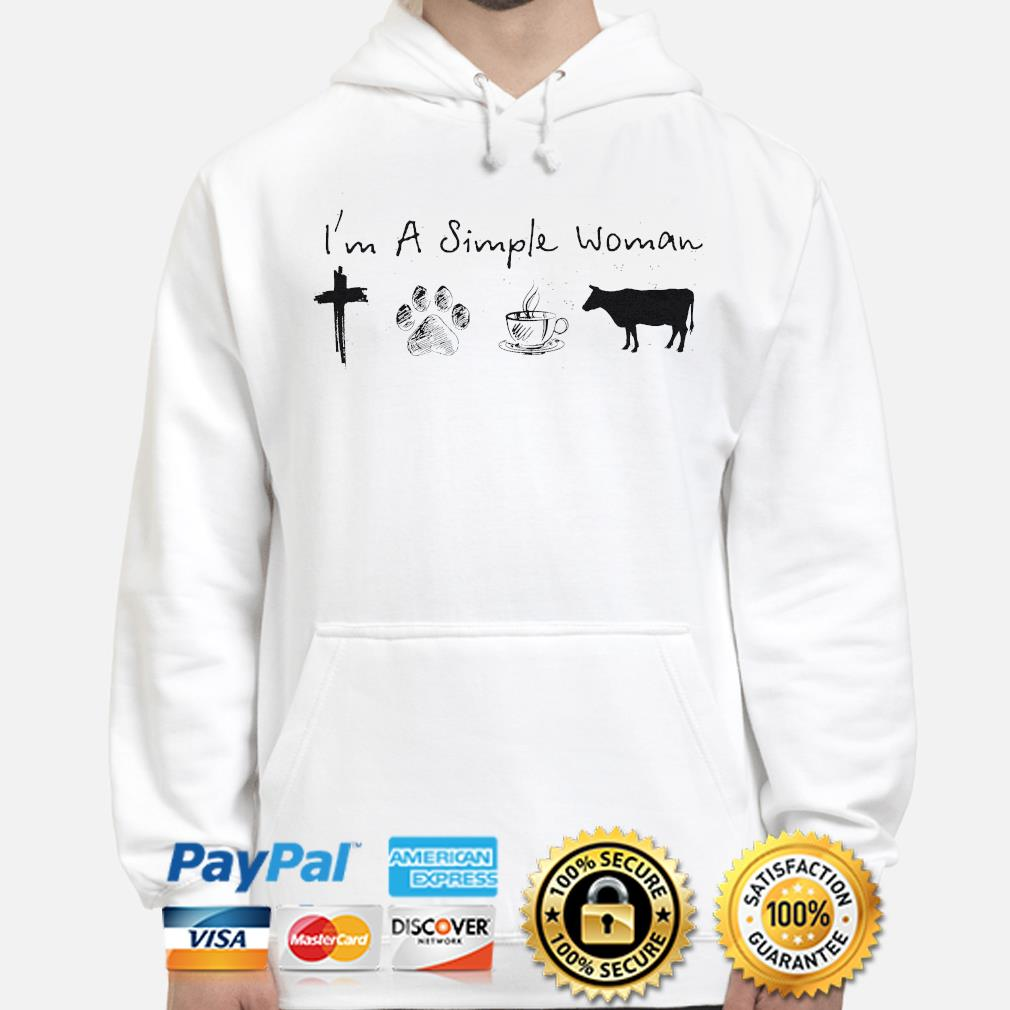 I'm a simple woman Jesus dog coffee and horse hoodie