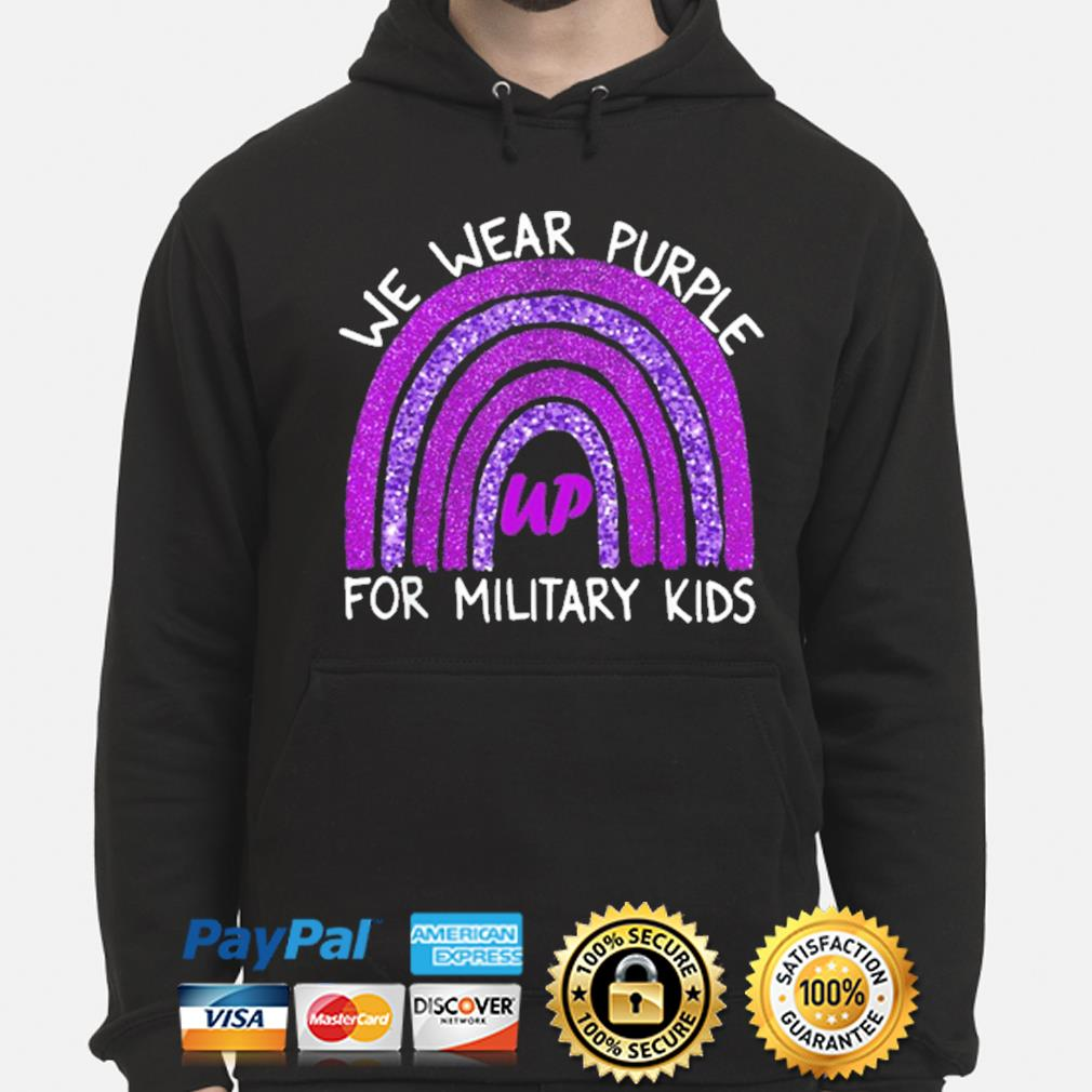 Official we wear purple up for military kids military child month hoodie