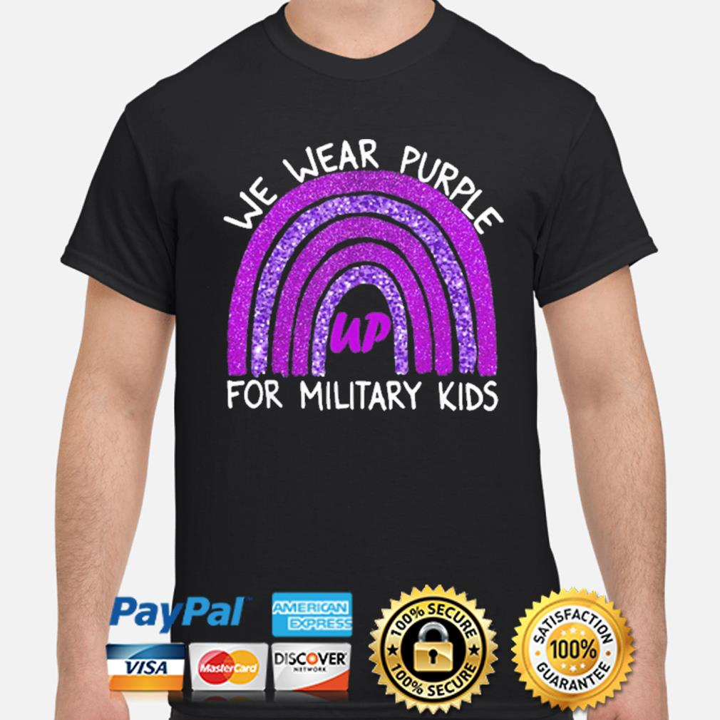 Official we wear purple up for military kids military child month shirt
