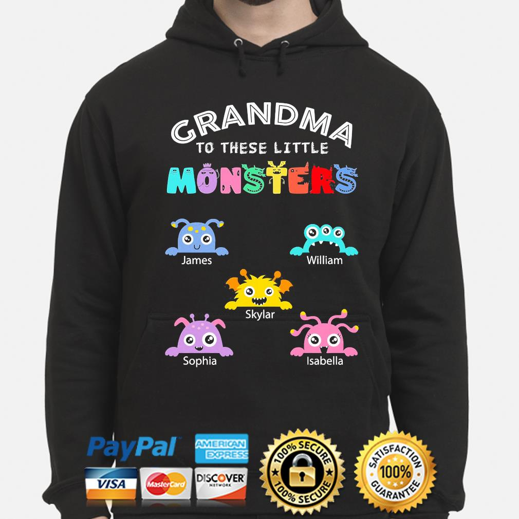 Personalized grandma to these little monsters nana gigi mimi grandpa hoodie