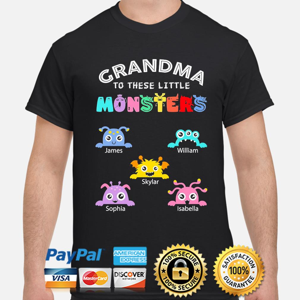 Personalized grandma to these little monsters nana gigi mimi grandpa shirt