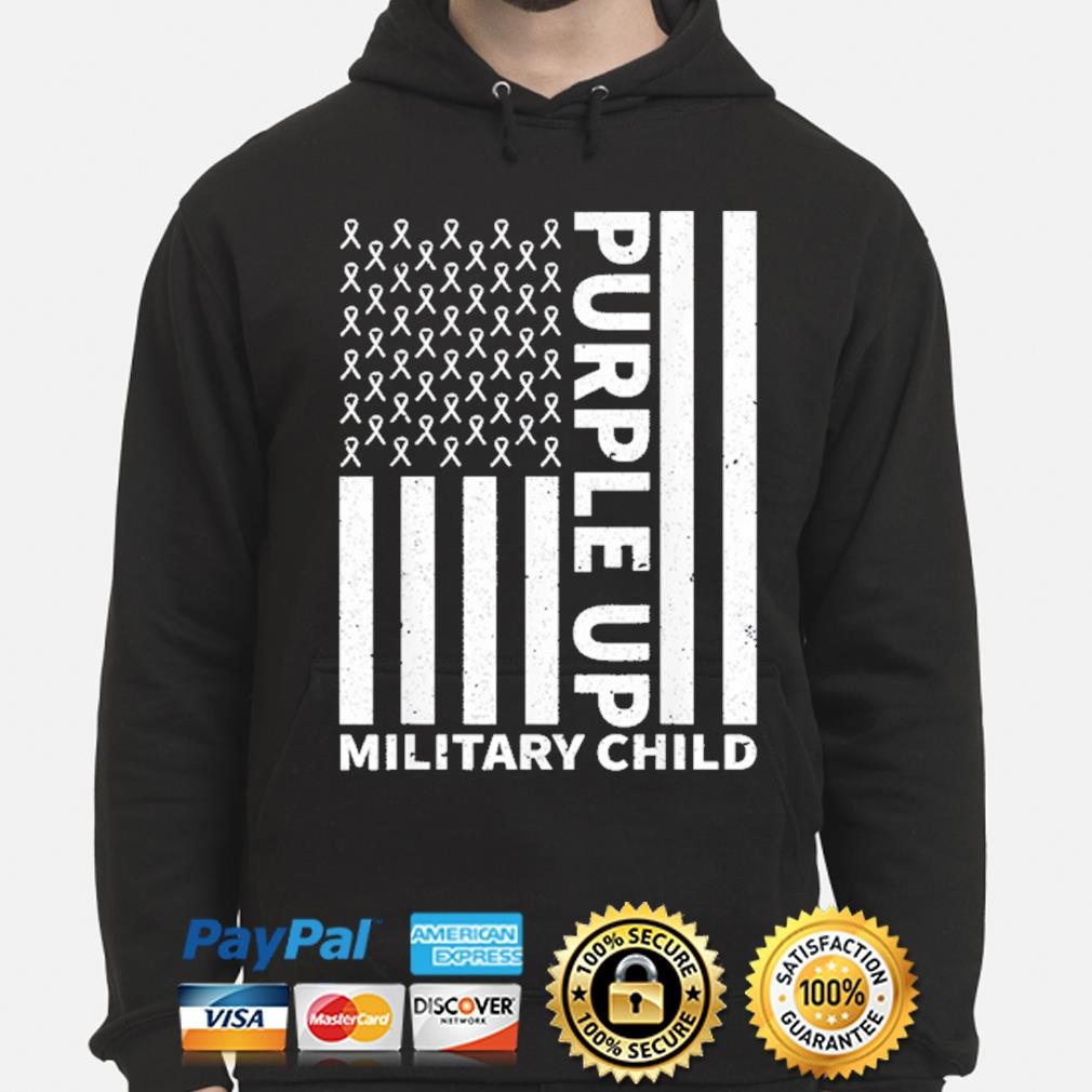 Purple up for military child military month hoodie
