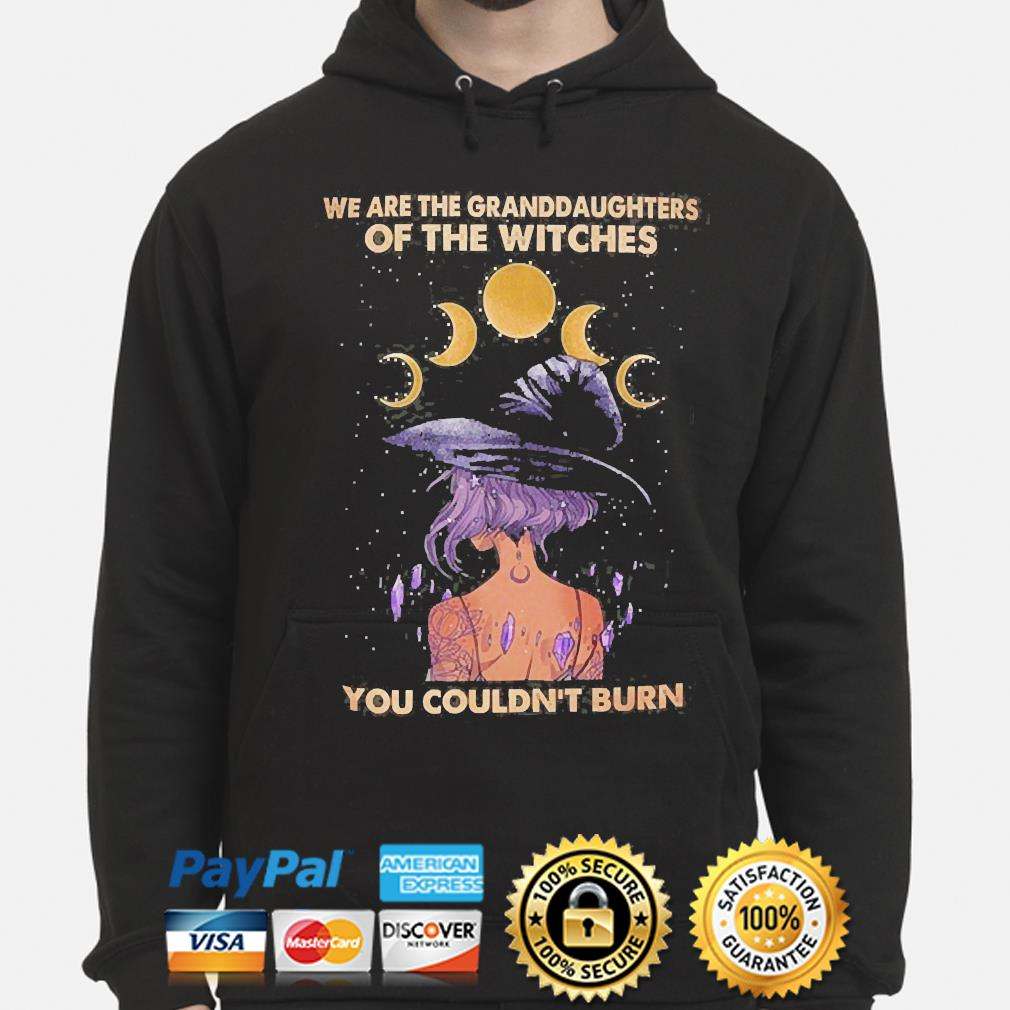 We are the granddaughters of witches you couldn't burn hoodie