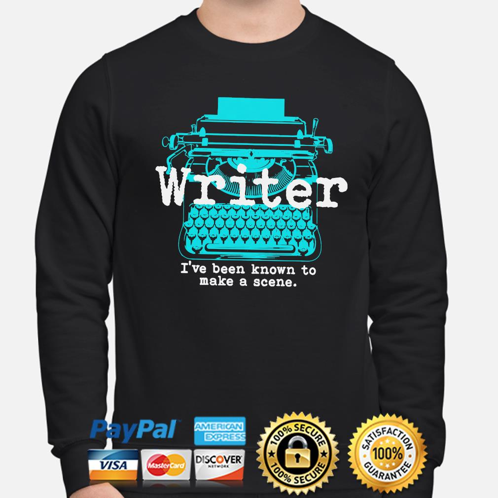 Writer I've been known to make a scene sweater