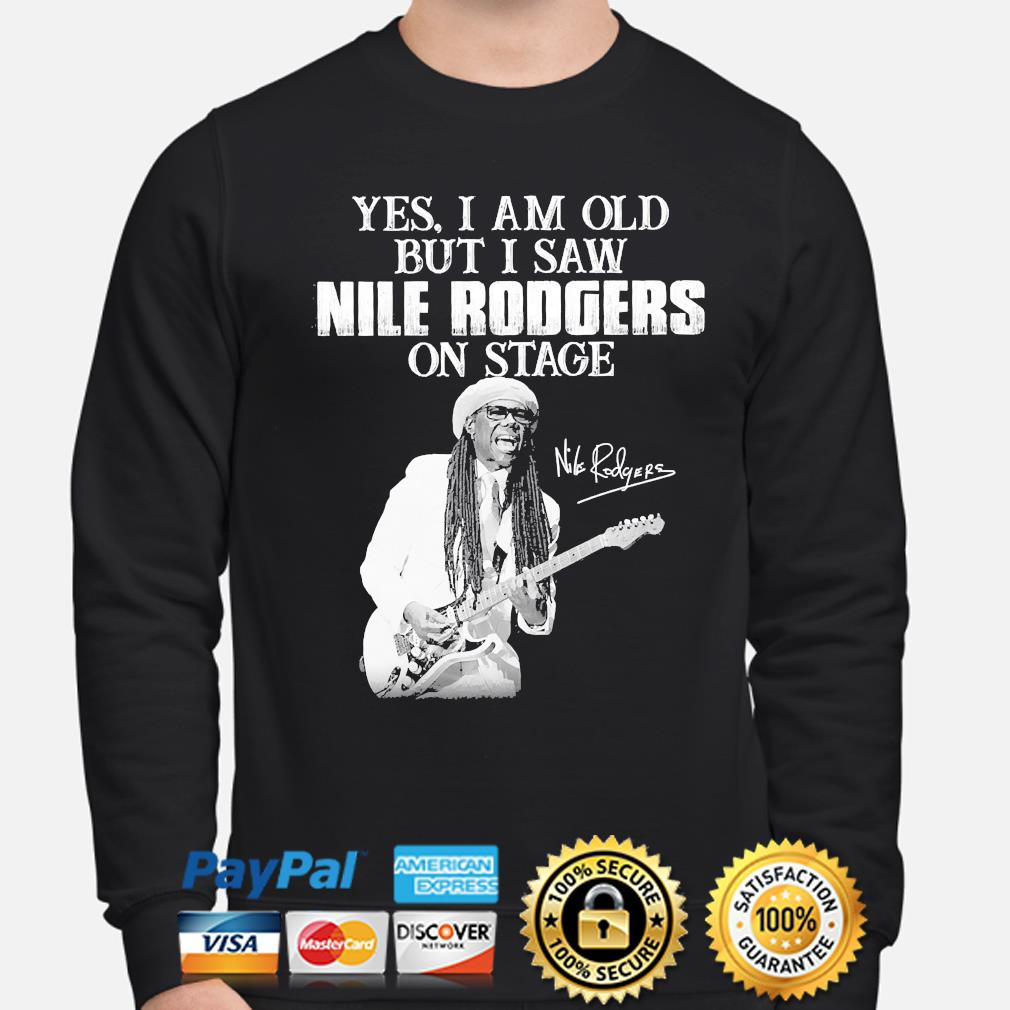 Yes I am old but I saw Rodgers on stage signatures sweater