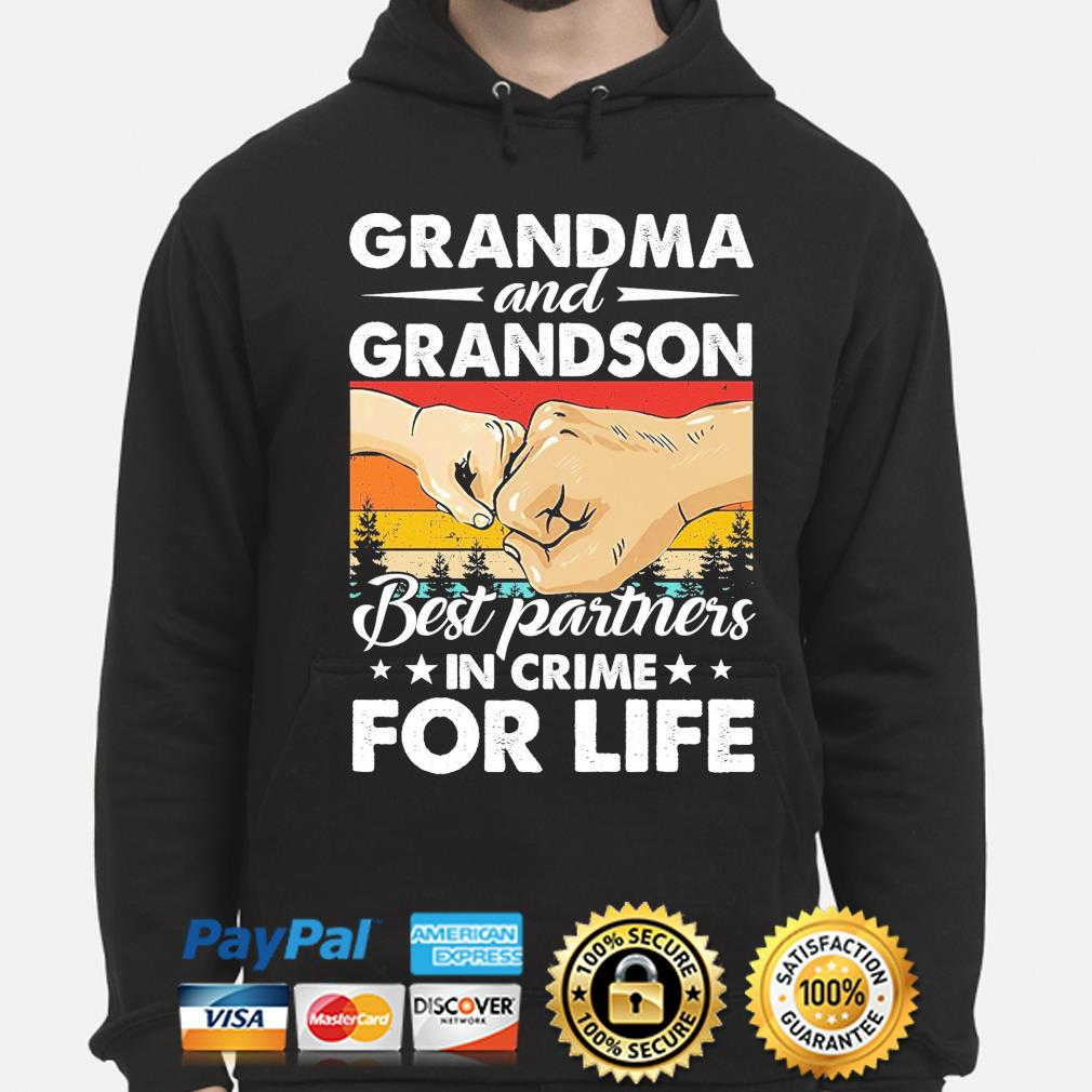 Grandma and grandson best partners in crime for life vintage s hoodie