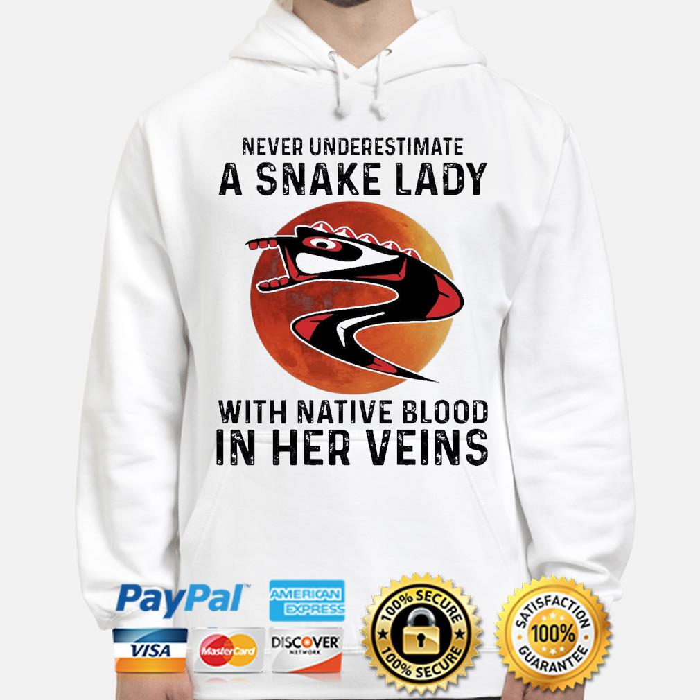 Never underestimate a Snake lady with Native blood in her veins s hoodie