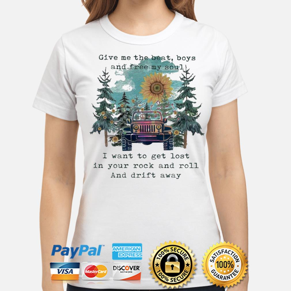 Sunflower and Jeep give me the beat boys and free my son shirt